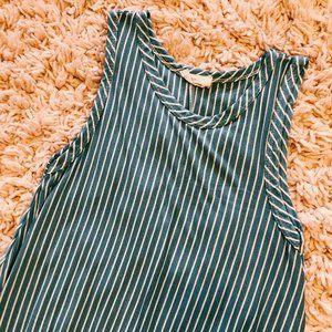 Pinc Dresses - Pinc Blue & White Striped Sleeveless Dress